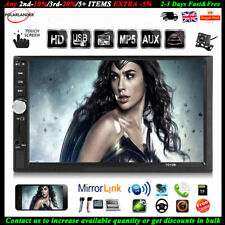 """2 Din Car Radio Stereo 7""""Touch Screen Bluetooth FM SD MP5 Player In-Dash+Camera"""