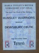 More details for hunslet warriors v dewsbury celtic, 31/12/1999 - signed cup final programme