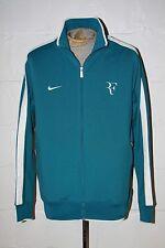 EUC Nike N98 Roger Federer RF Tennis Turquoise Blue Full Zip Track Jacket Sz XL