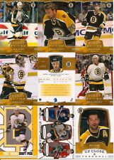 2002-03 ITG In The Game 1st Edition Boston Bruins Complete Team Set (17)