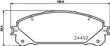 3 x Textar Bremsbelagsatz VA passend für Lexus RX 3,5 - Nr. 2445201