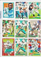Miami Dolphins 9 card Lot