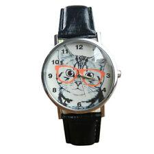 Women's Watch Cat Pattern Leather Band Analog Casual Quartz Wrist Watch Trusty