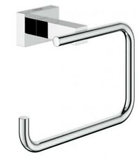 Grohe ESSENTIALS CUBE TOILET ROLL HOLDER 138mm Length, Wall Mounted CHROME