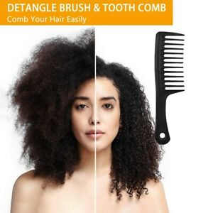 Wide Tooth Comb Large Heat Resistant Fork Hair Anti Static Beauty Styling Tool S
