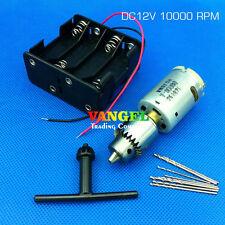 VANGEL-12V 10000RPM mini drill press pcb hand drill with drill chuck JT0 0.3-4mm