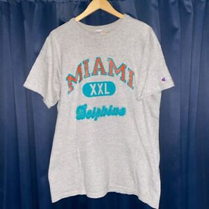 Vintage Champion Miami Dolphins training t-shirt!! XXL