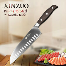 XINZUO 7 inch santoku knife cleavers knife German steel super sharp chef knives