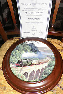 FRAMED TRAIN PLATE 'OVER THE VIADUCT' with CERTIFICATE LIMITED EDITION BRADEX