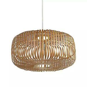 Woven Bamboo Oval Pendant Shade