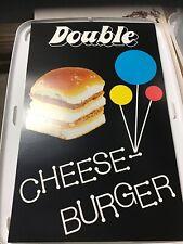 "Vintage White Castle Restaurant 14""x22"" Advertising Poster Double Cheeseburger"