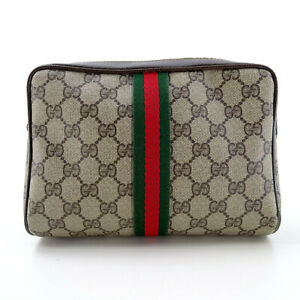 GUCCI Ophidia Guccissima Supreme GG Monogram Clutch Bag Pouch in Brown - Italy