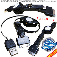 CABLE DE DATOS Y CARGA USB 2.0 MACHO A MINI USB MICRO USB DOCK PARA APPLE