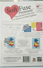 "Soft Fuse Premium Paperbacked Fusible We 10 Sheets 8"" x 9"" Applique SoftFuse"