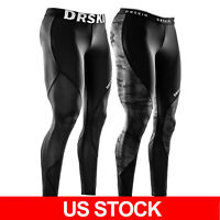 DRSKIN Mens Compression Tight Base Layer Gym Sports Leggings Running Pants
