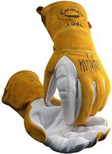 CAIMAN 1540 - Premium Goat Grain Unlined Palm TIG/Multi-Task Welding Gloves