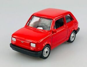 WELLY FIAT 126p RED 1:60 POLISH CLASSICS DIE CAST METAL MODEL MALUCH NEW