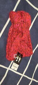 Mixit Red Pink Purple  marled  Knit Twisted Winter knot Headband New
