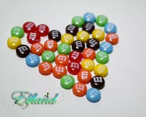 M&M's Bonbon * Magnetohrringe Magnet Ohrringe Ohrstecker * Ohrschmuck