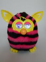 Furby Boom black and pink stripes interactive electronic pet, Hasbro 2012