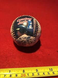 1987 ROOKIE MEMORABILIA BASEBALL FOR McGWIRE. NO. 25 RECORDING 49 HOME RUNS