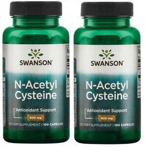 Swanson NAC N-Acetyl L-Cystein 600mg - 200 Kapseln Acetylcystein