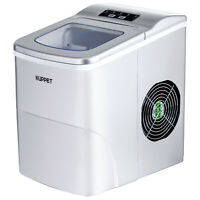 Electric Portable Ice Maker Cube Compact Machine Countertop 26LBS/Day Sliver