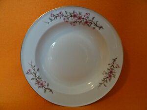 Rosenthal Selb HELENA Suppenteller 24,3 cm Dekor - Kirschblüten Goldrand