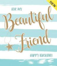 Beautiful Friend Birthday Colour Me Happy Gold Flitter Design Good Quality Card