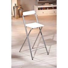Tabouret de bar chaise de cuisine chaise d'appoint pliable GRIS ALU BLANC