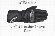 NEW ALPINESTARS SP-2 SPORT TOURING MOTORCYCLE LEATHER GLOVES - BLACK - SIZE XXL