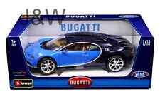 Bburago Bugatti Chiron Blue 1/18 11040