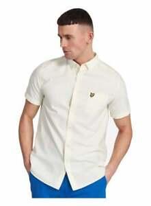 Lyle & Scott Ss Oxford Shirt Buttercream/white
