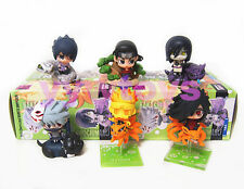 Set 6 Piece Naruto Shippuden Petit Chara Land Figure Doll Toy Series 3