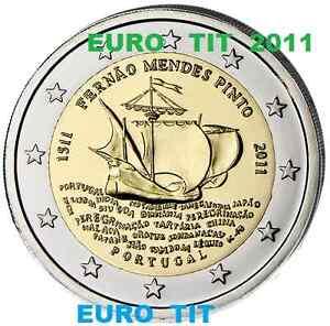 2 €     PORTUGAL   COMMEMORATIVE   PINTO     2011     PIECE   NEUVE