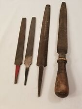 Lot of 4 Vintage Files HSD, Simonds, Wards, one with wood handle