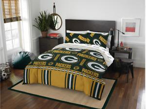 Green Bay Packers Twin Comforter & Sheet Set, 4 Piece NFL Bedding, NEW!