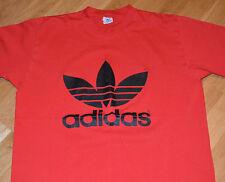 RaRe *1980's ADIDAS TREFOIL* vintage red t-shirt (XL) 50/50 Nike Hip-Hop RUN DMC