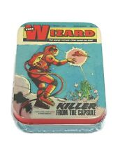 The Wizard Classic Comics Collectors 2oz Tin Storage Keepsake Retro Vintage