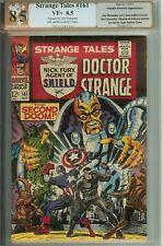 Strange Tales #161 PGX 8.5 7.0 4.5 Sign Jim Steranko (like CGC) Doctor Strange