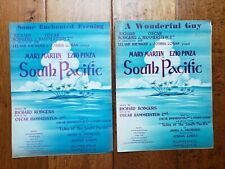 SOUTH PACIFIC movie Martin Pinza Rodgers Hammerstein 1949 Sheet Music 2 Songs