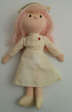"Vintage Russ Berrie Handcrafted Helper Nurse Doll 14"" Stuffed"