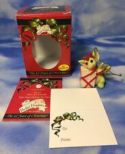 "New 1999 Pocket Dragons ""All Wrapped Up"" Ornament Figurine Present #013815 Nib"