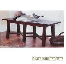 iHOME DESIGN ENGINEERED HARDWOOD PLANK TOP MISSION STYLE HALLWAY WOOD BENCH NEW!