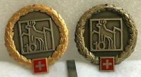 Swiss Military Officer and Enlisted 10th Mountain Brigade Metal Beret Badge
