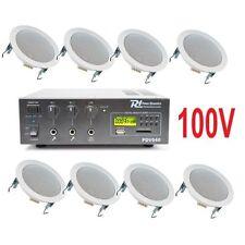 IMPIANTO AUDIO ATTIVO FILODIFFUSIONE 100V amplificatore + 8 altoparlanti incasso