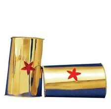 Woman New CUFFS Of Wonder Bracelets COSTUME Prop Gold Red Stars Justice League