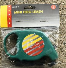 "Mini Retractable 12 Ft Dog Cat Leash 4 1/2 X 3"" New"