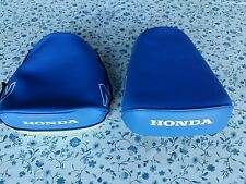 HONDA Z50R 1979 TO 1986 SEAT COVER BLUE WHITE HONDA & Z LOGO DYED (HS40)