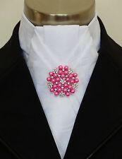 """Brooch -"""" Snowflake"""" Pink Pearls & Crystal Stock Pin Brooch - Free Postage in Au"""